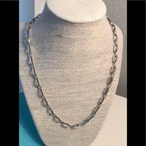 Tiffany & Co Flat Link Oval Necklace